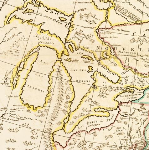 Carte Nouvelle de l'Amerique Angloise Contenant