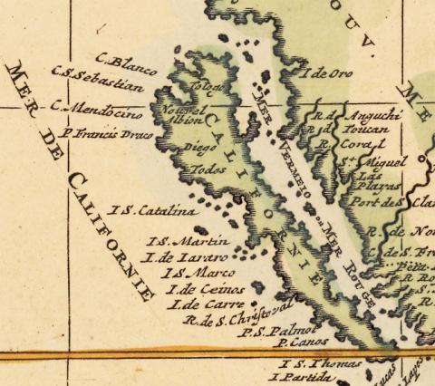 Mortier map 1700