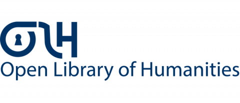 Logo of the Open Library of Humanities, with an OLH wordmark and the full title below.